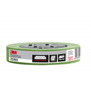 """3M™ 2060 Rough Surface Professional Masking Tape 1"""" / 24mm"""