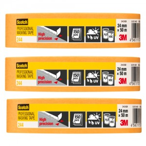 "3M Scotch Gold High Precision Tape 1"" Pack Of 3"
