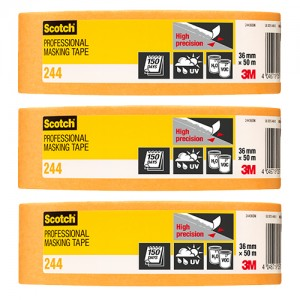 "3M Scotch Gold High Precision Tape 1.5"" 3 Pack"