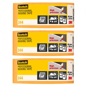 "3M Scotch Gold High Precision Tape 2"" 3 Pack"