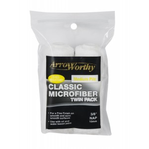 "Arroworthy Classic Microfiber 4"" 3/8"" Mini Roller Sleeves Twin Pack"