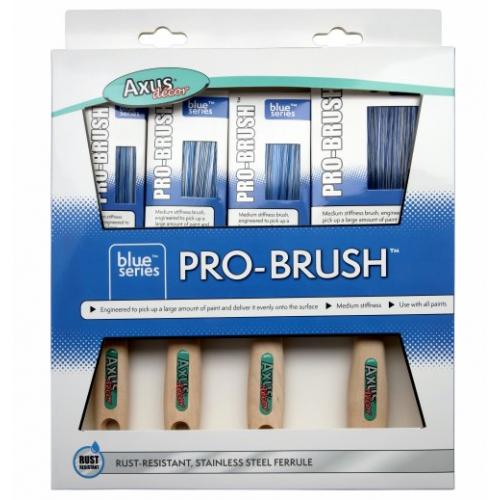 Axus Blue Pro Brush 4 Pack
