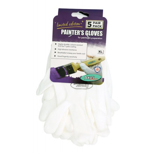 Axus Painters Gloves  X Large 5 Pack (LIMITED EDITION)