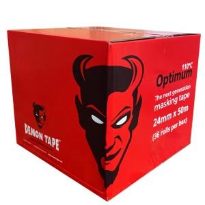 "Demon Optimum110°C  Masking Tape 1"" / 24mm Box of 36"