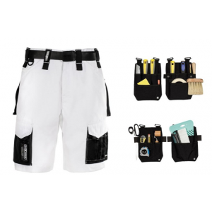 Dexters Female Decorators Workwear Shorts Bundle - White