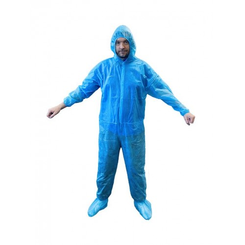 Disposable Blue Coverall - One Size Fits All Box Of 60  **CLEARANCE**