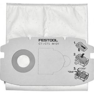 Festool SelfClean Filter Bag SC FIS-CT MIDI Pack Of 5 498411