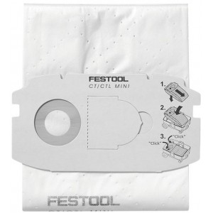Festool SelfClean Filter Bag SC FIS-CT MINI Pack Of 5 498410
