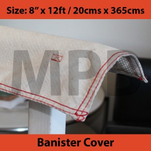 "Gripper Cloth Banister Cover 8"" x 12ft / 20cm x 365cm"