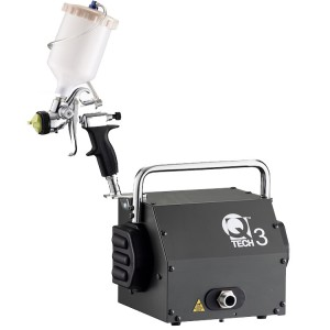 Q-Tech 3 HVLP Turbine Gravity Gun 110V