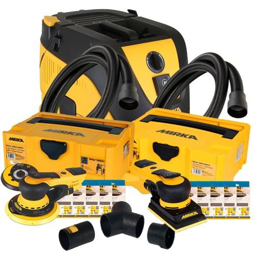 Mirka 1230L Bundle 3 - Mirka 1230L Extractor, Mirka Deros Deco Kit, Mirka Deos Deco Kit & Dual Vacuum Kit (230v) DELIVERY NOVEMBER 2021