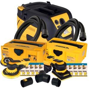 Mirka 1230M Bundle 2 - Mirka 1230M Extractor, Mirka Deros Deco Kit, Mirka Deos Deco Kit & Mirka Dual Vacuum Kit (110v)