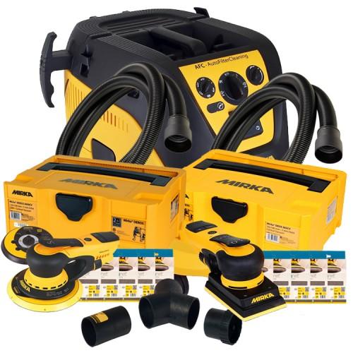 Mirka 1230M Bundle 1 - Mirka 1230M Extractor, Mirka Deros Deco Kit, Mirka Deos Deco Kit & Mirka Dual Vacuum Kit (230v) DELIVERY NOVEMBER 2021