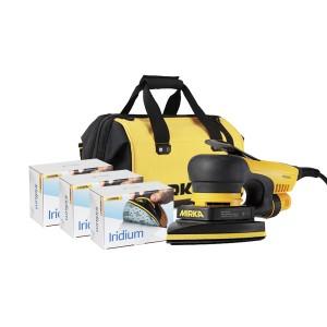 Mirka Deos Delta 230V November 19 Offer - 150 Iridium Grit + Tool Bag