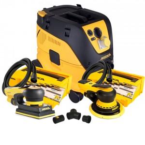 Mirka Bundle 4 - Mirka 1230M Extractor, Mirka Deros Deco Kit, Mirka Deos Deco Kit & Mirka Dual Vacuum Kit (110v)