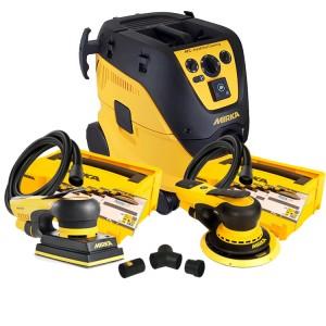 Mirka Bundle 5 - Mirka 1230M Extractor, Mirka Deros Deco Kit, Mirka Deos Deco Kit & Mirka Dual Vacuum Kit (230v)