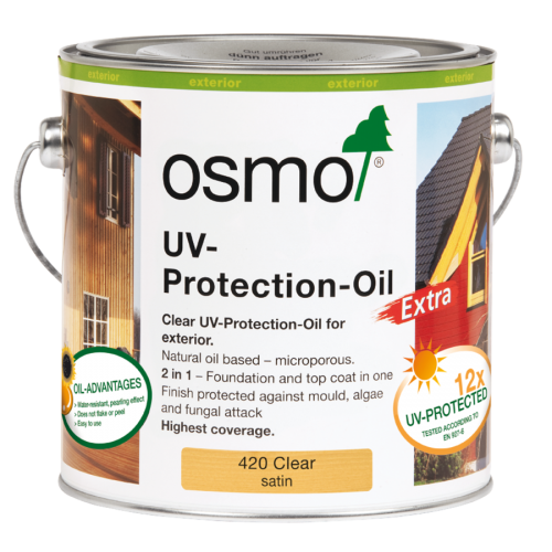 Osmo UV-Protection Oil Extra Clear Satin 2.5l