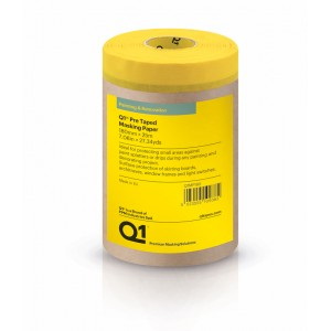 Q1 Pre Taped Masking Paper 180mm