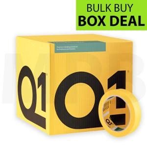 "Q1 Multi Purpose Indoor Masking Tape 1"" Box Of 36 + FREE T SHIRT & ROLL OF PAPER"