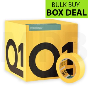 "Q1 Multi Purpose Indoor Masking Tape 1.5"" Box Of 24 + FREE T SHIRT & ROLL OF PAPER"