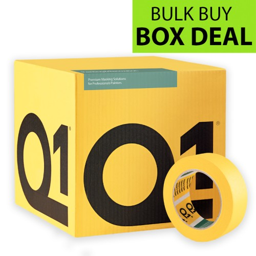 "Q1 Multi Purpose Indoor Masking Tape 1.5"" Box Of 24"