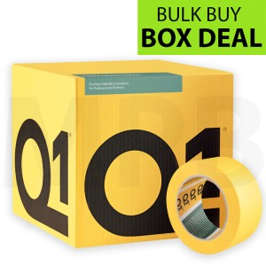 "Q1 Multi Purpose Indoor Masking Tape 2"" Box Of 20 + FREE T SHIRT & ROLL OF PAPER"