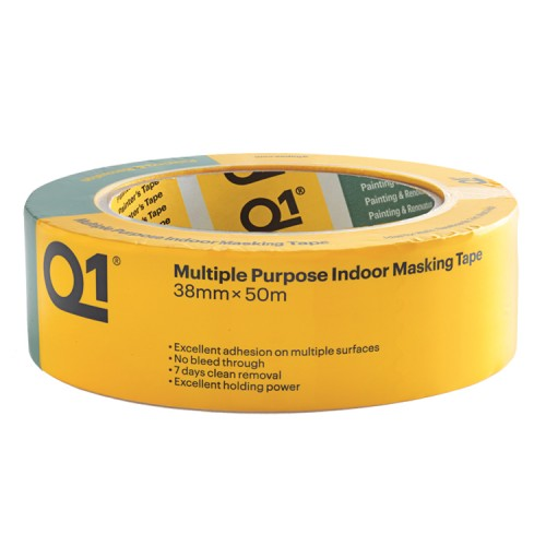 """Q1 Multi Purpose Indoor Masking Tape 1.5"""""""