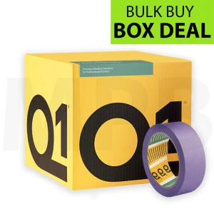 "Q1 Delicate Surface Masking Tape 1.5"" Box Of 24 + FREE T SHIRT & ROLL OF PAPER"