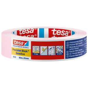 "Tesa Pink Precision Masking Tape Sensitive 1"" / 25mm"