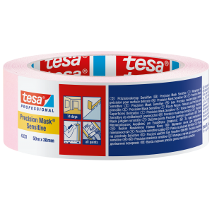 "Tesa Pink  Precision Masking Tape Sensitive 1.5"" / 38mm"