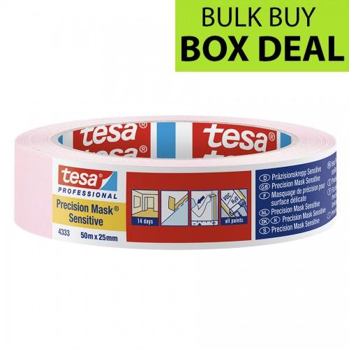 "Tesa Pink Precision Masking Tape Sensitive 1"" / 25mm Box of 36"