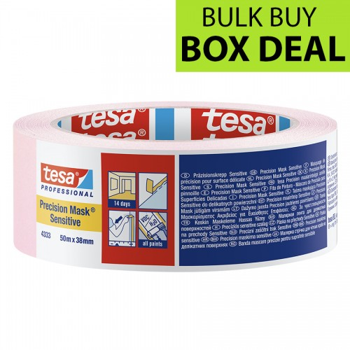 "Tesa Pink Precision Masking Tape Sensitive 1.5"" / 38mm Box of 24"