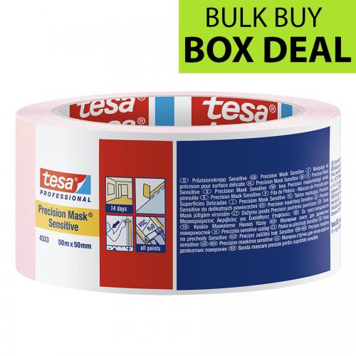 "Tesa Pink Precision Masking Tape Sensitive 2"" / 50mm Box of 18"