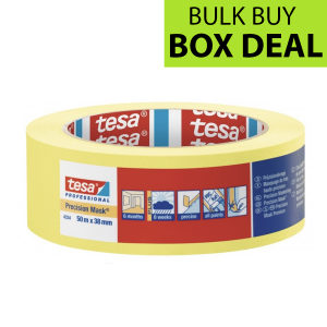 "Tesa Yellow Precision Masking Tape 1.5"" / 38mm Box of 24"