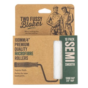 """Two Fussy Blokes 4"""" Semi Smooth Mini Rollers 10 Pack (10mm)"""