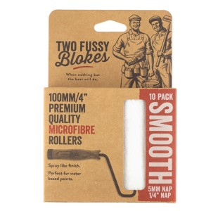 """Two Fussy Blokes 4"""" Smooth Mini Rollers 10 Pack (5mm)"""