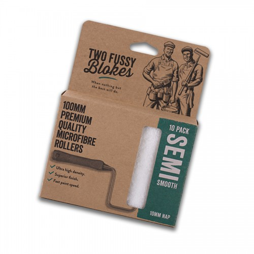 Two Fussy Blokes 10mm / Semi Smooth Mini Rollers 10 Pack