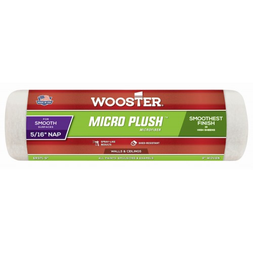 """Wooster Micro Plush 9"""" Roller Sleeve 5/16"""" Nap"""