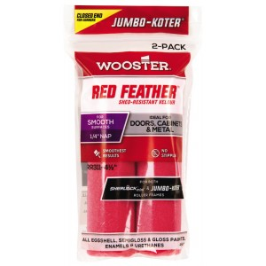 """Wooster Jumbo Koter Red Feather 4.5"""" Mini Rollers Twin Pack"""