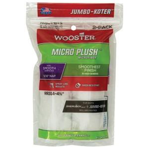 """Wooster Jumbo Koter Micro Plush 4.5"""" Mini Rollers Twin Pack"""