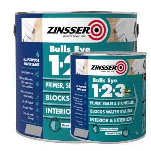 Zinsser Bulls Eye 1-2-3 PLUS Grey
