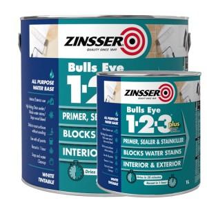 Zinsser Bulls Eye 1-2-3 PLUS White