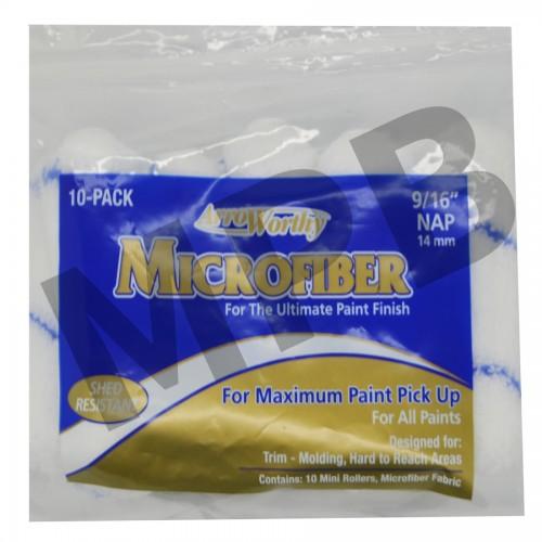 """Arroworthy 4"""" 9/16"""" Nap Microfibre Roller Sleeve 10 Pack"""