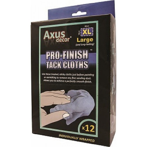 Axus Pro-Finish XL Tack Cloths x 12