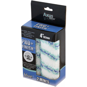 """Axus Blue Pro Finish Plus 4"""" Mini Roller Sleeves Pack Of 2"""