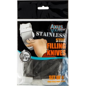 Axus Stainless Steel Flexible Filling Knife Set ( 25mm, 50mm, 80mm, 100mm)