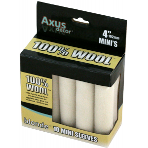 "Axus 100% Natural Wool 4"" Mini Roller Sleeves Pack Of 10"