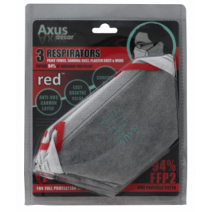 Axus Decor Red Respirator Fold Flat FFP2 3 PK