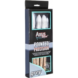 Axus Decor Grey Pointed Precision Brush Set