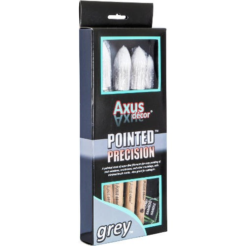 Axus Decor Grey Pointed Precision Brush Set